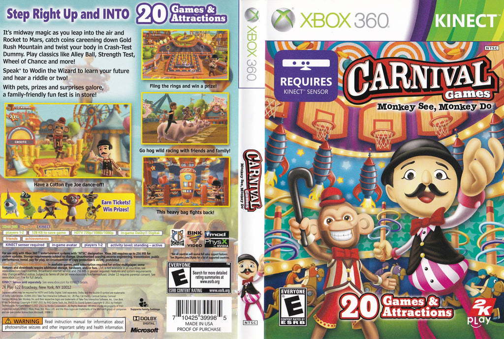 Carnival Games Monkey See, Monkey Do XBox 360