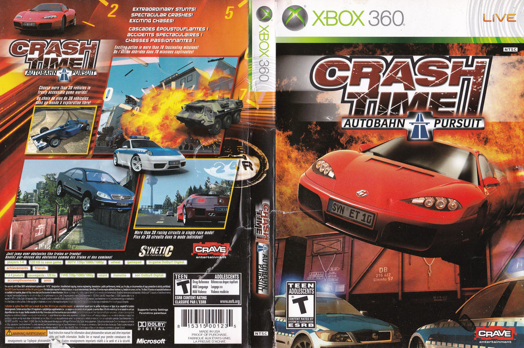 Crash Time Autobahn Pursuit Xbox 360