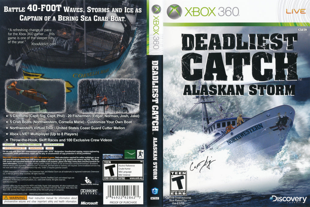 Deadliest Catch: Alaskan Storm Xbox 360
