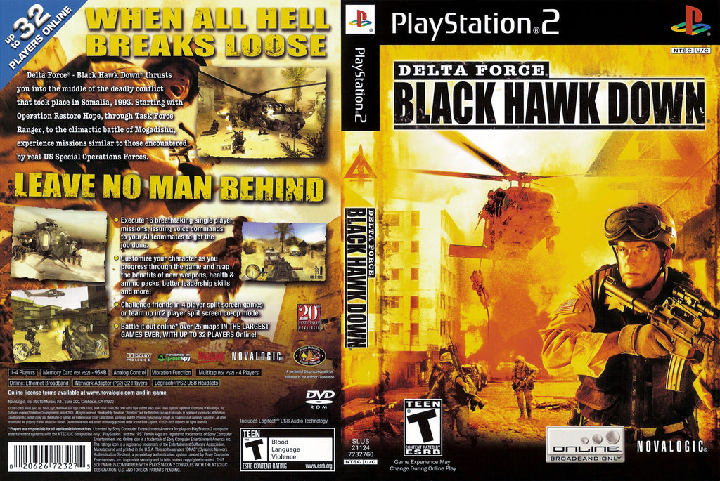 Delta Force Black Hawk Down C PS2