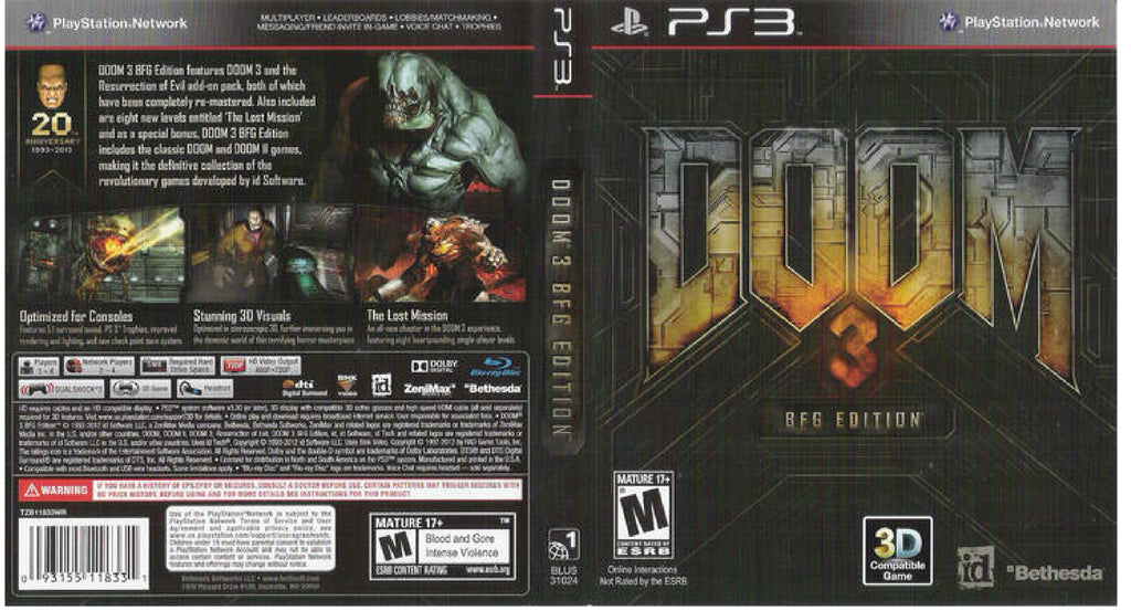 Doom 3 BFG Edition PS3