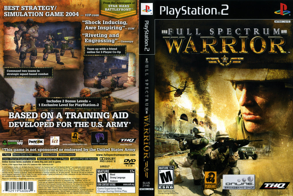 Full Spectrum Warrior C PS2
