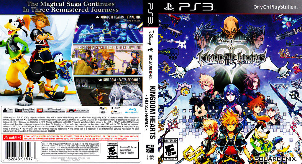 Kingdom Hearts 2.5 ReMIX PS3