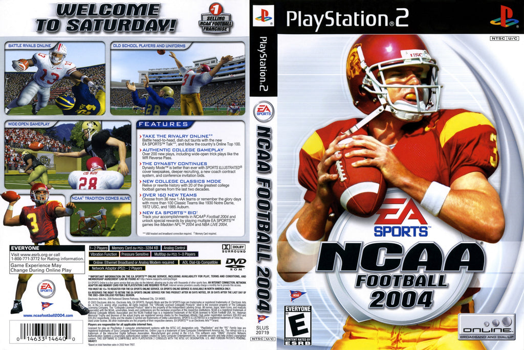 NCAA Football 2004 N PS2