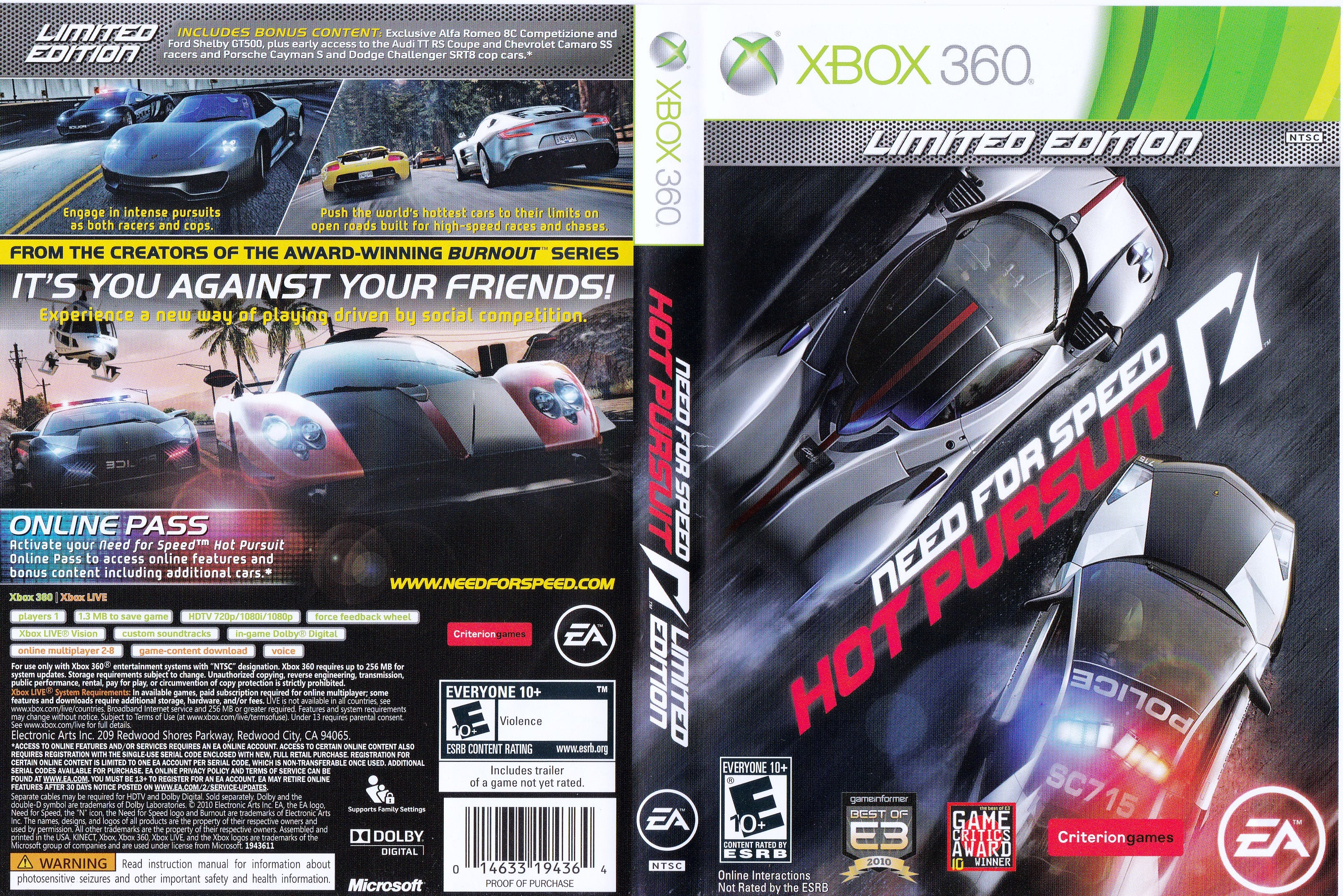 Need For Speed Hot Pursuit Xbox 360 Clarkade