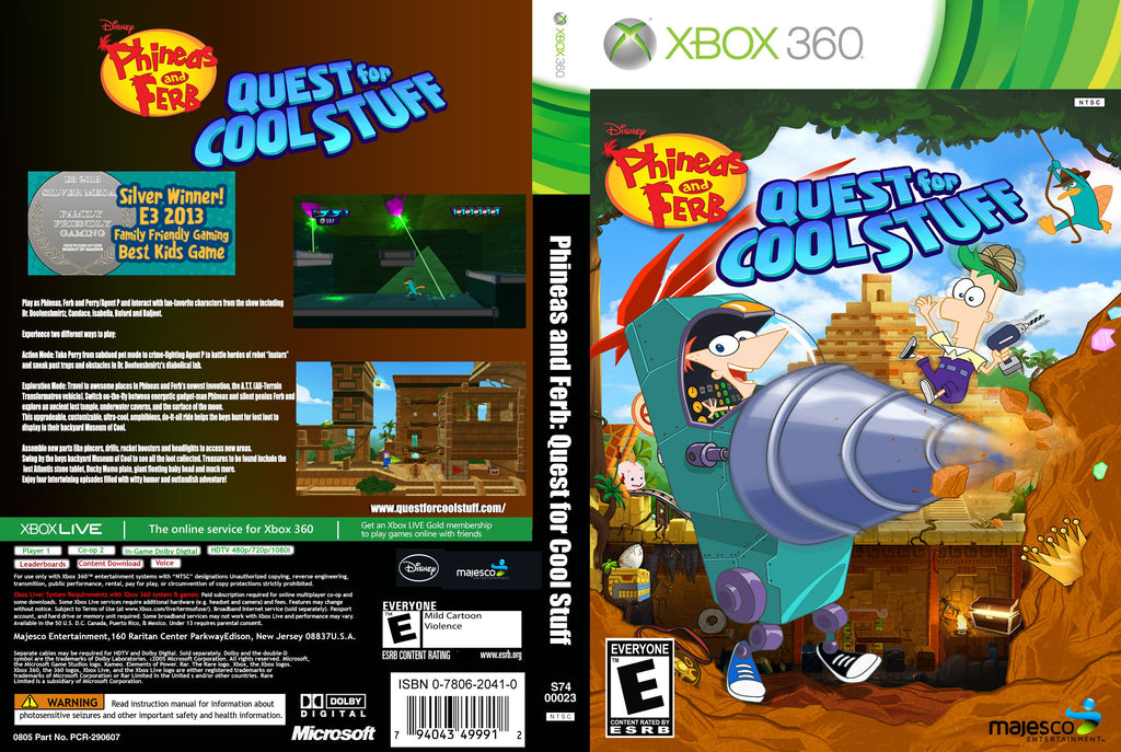 Phineas and Ferb Quest For Cool Stuff Xbox 360
