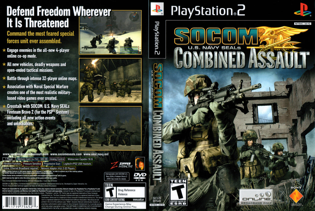 Socom Combined Assault N BL PS2