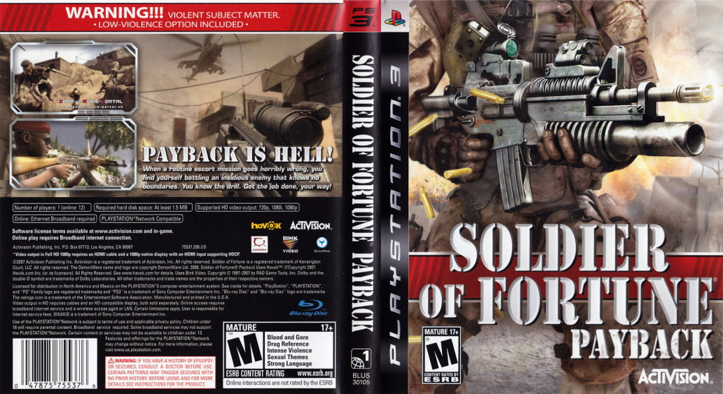 Soldier of Fortune: Pay Back PS3