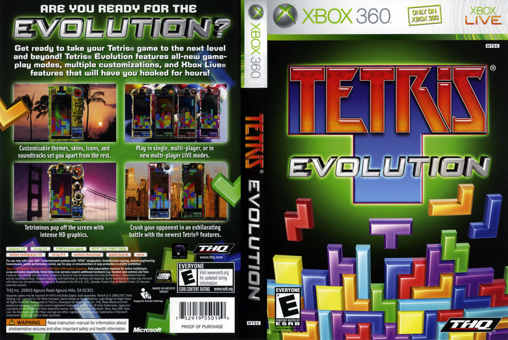 Tetris Evolution Xbox 360