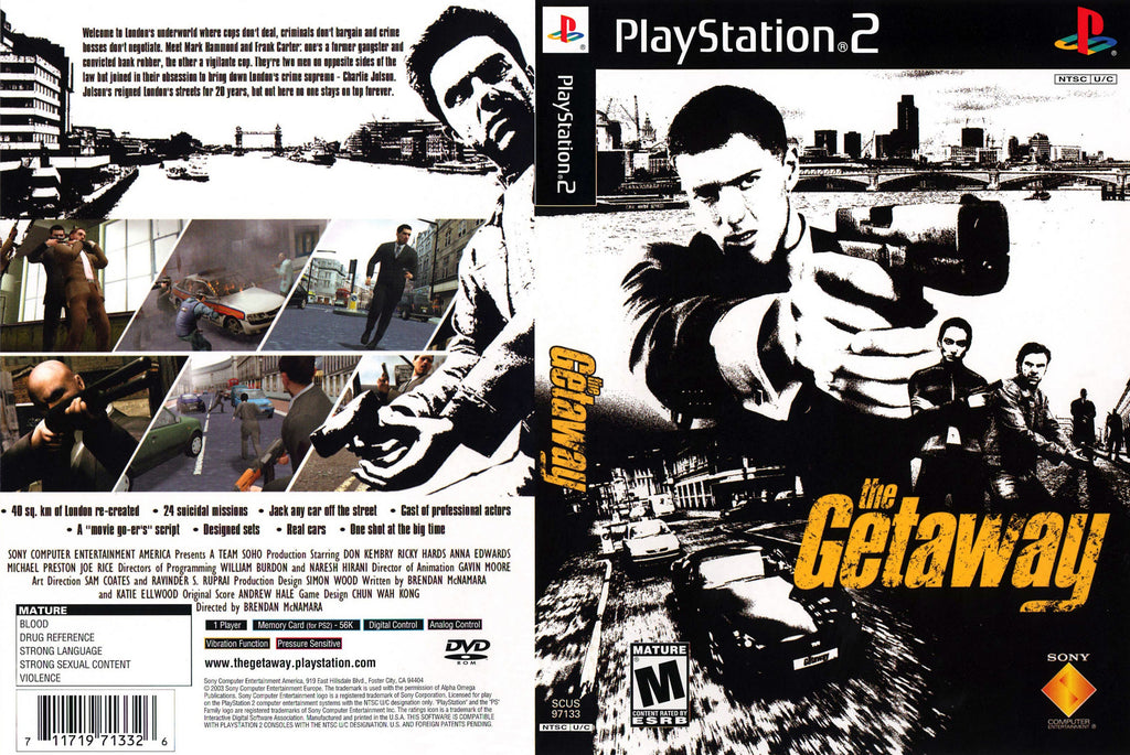 The Getaway C BL PS2