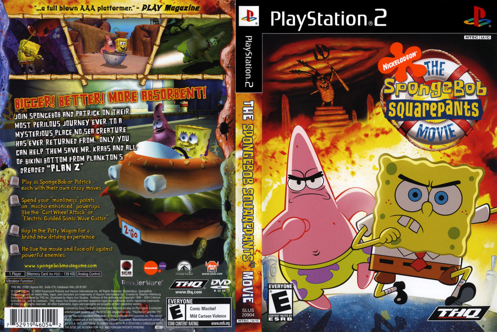 The SpongeBob SquarePants Movie C BL PS2