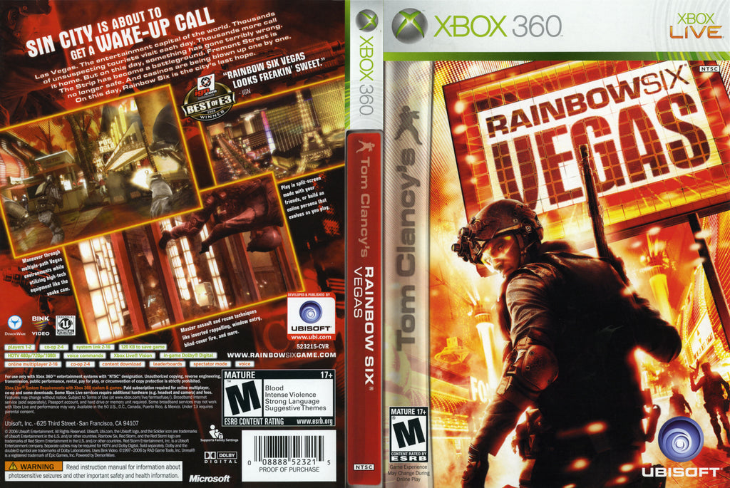 Tom Clancys Rainbow Six Vegas Xbox 360