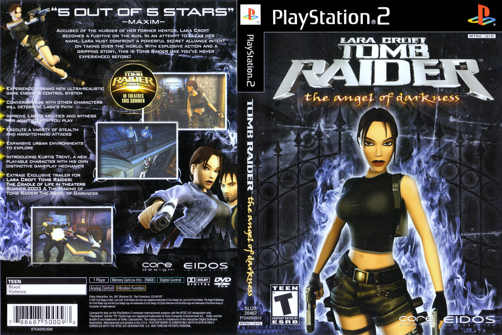 Tomb Raider The Angel Of Darkness C BL PS2