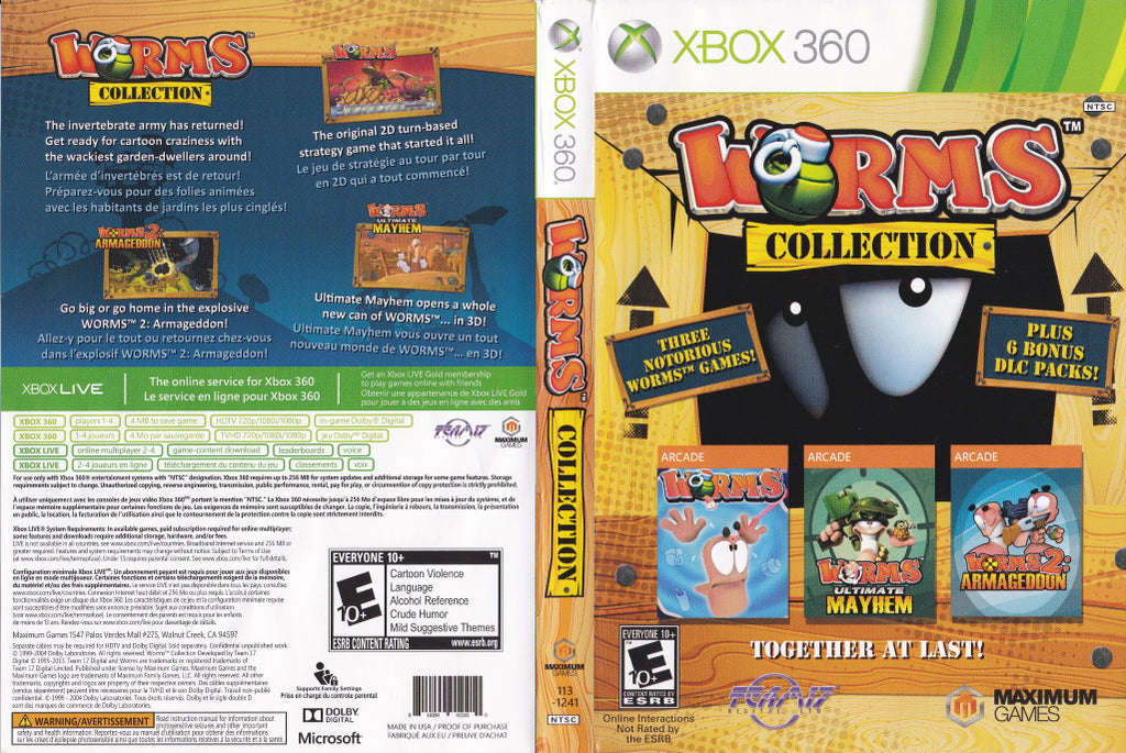 Worms Collection Xbox 360