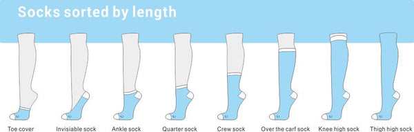 types and length of socks