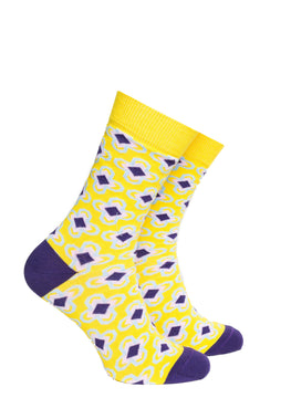 Purple and Gold (Yellow) Socks