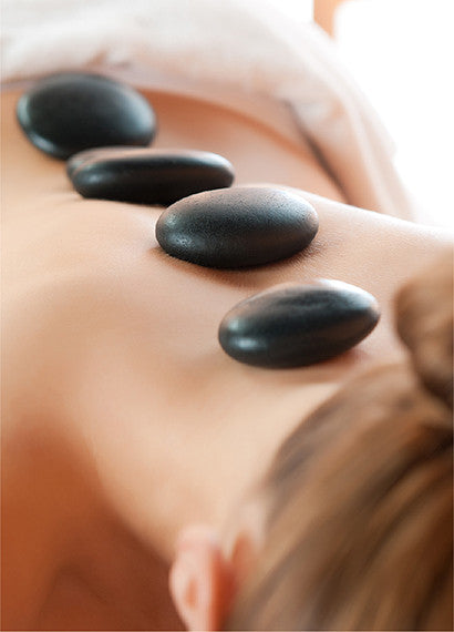 The hot stone aromatherapy massage