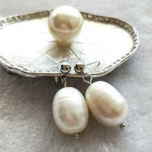 Drop Pearl Stud Earrings