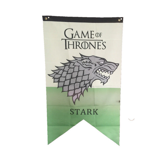"Estandarte das casas de ""Game of Thrones"" Bandeira Stark Lanninster Targaryen Bolton Baratheon Greyjoy Martell Tully"