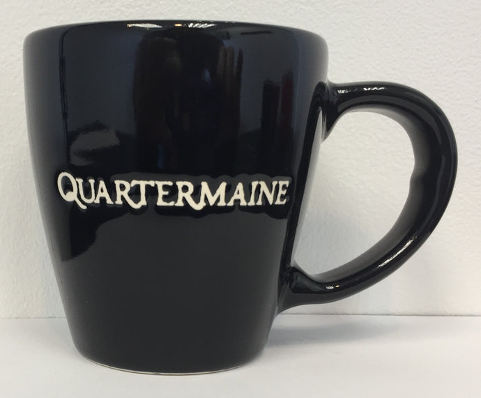 Quartermaine 12 oz Black Mug