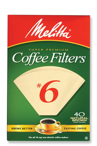Melitta #6 Cone Filters Natural Brown