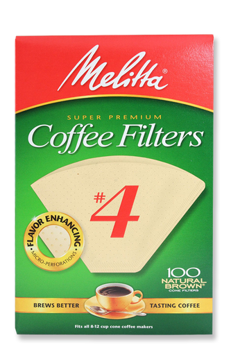 Melitta #4 Cone Filters Natural Brown