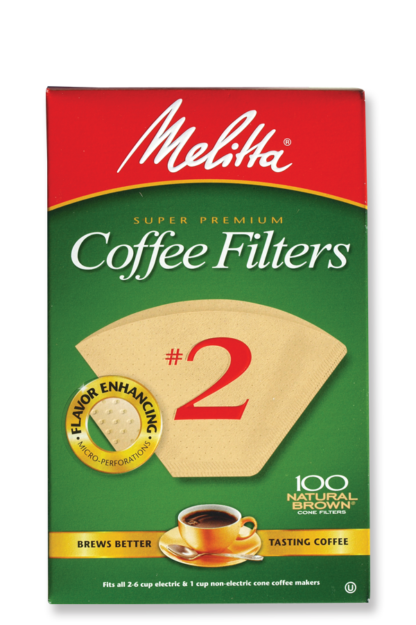 Melitta #2 Cone Filters Natural Brown