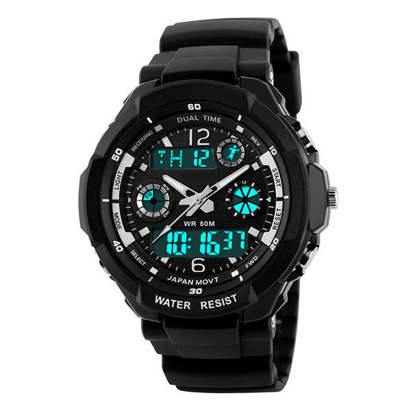 Ghost LED Digital Quartz Water Resistant Cycling Watch