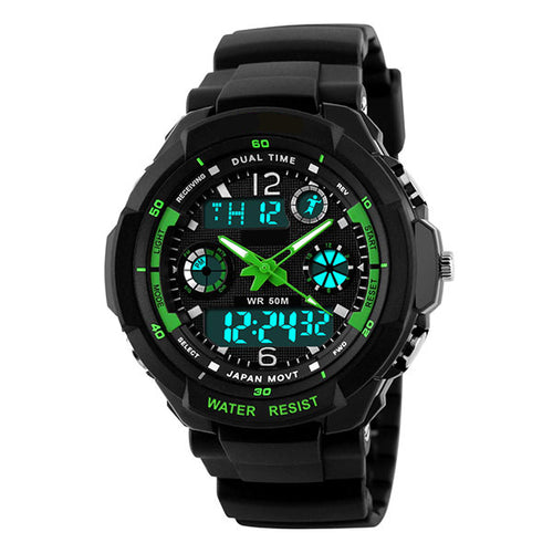 Lime LED Digital Quartz Water Resistant Cycling Watch