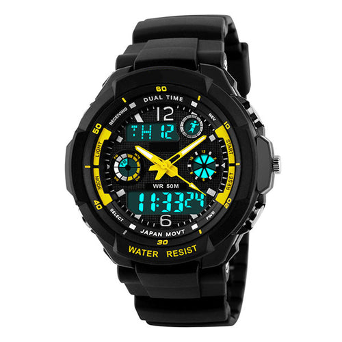 Star LED Digital Quartz Water Resistant Cycling Watch