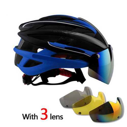 Integrally Molded Helmet 3 Lenses Polarized