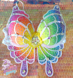 Rainbow Sparkle Butterfly Bra