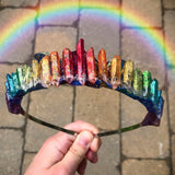 The Rainbow Glitter Crown