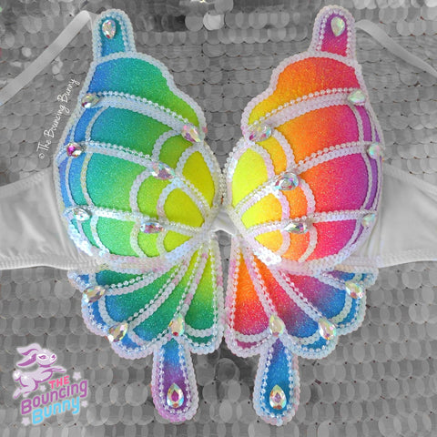 Rainbow Bright Butterfly Bra