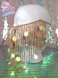 Cleo Sequin Chain Mask