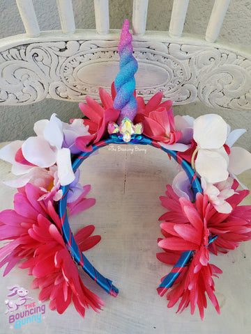 Cotton Candy Unicorn Headband