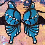 Light Up Blue Butterfly Bra