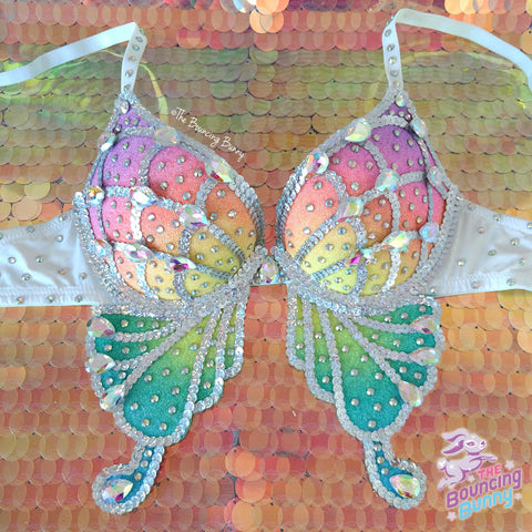 Pastel Shimmers Butterfly Bra