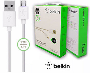 Belkin Micro Lightning Charge/Sync Cable - 4Ft / 1.2M (Apple Devices)