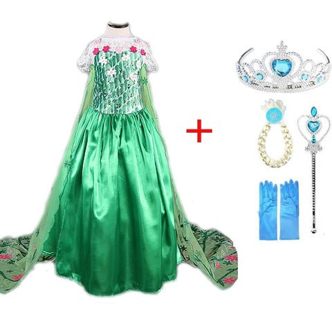 Princess Snow Queen Party Dress