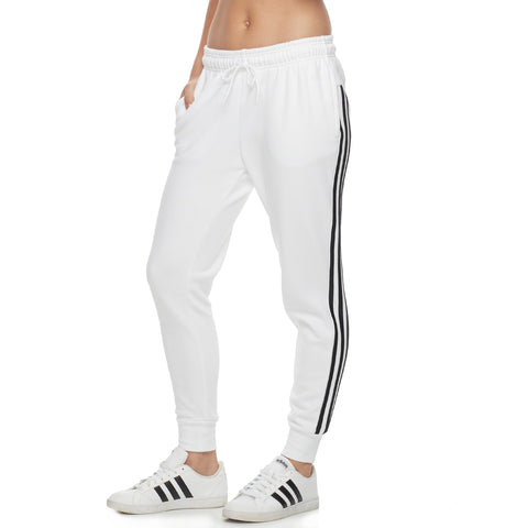 Women's adidas Fleece Striped Jogger Pants