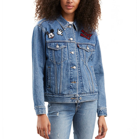 Women's Levi's®  Ex-Boyfriend Mickey Mouse Denim Trucker Jacket