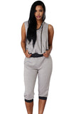 Grey Black Sexy Rogue Sweat Pant Set