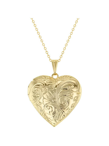 Women's Heart Photo Locket Pendant Necklace Love 19""