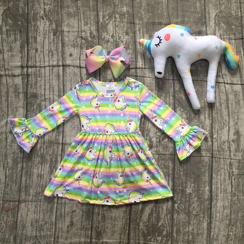 Unicorn Fall Girls Dress