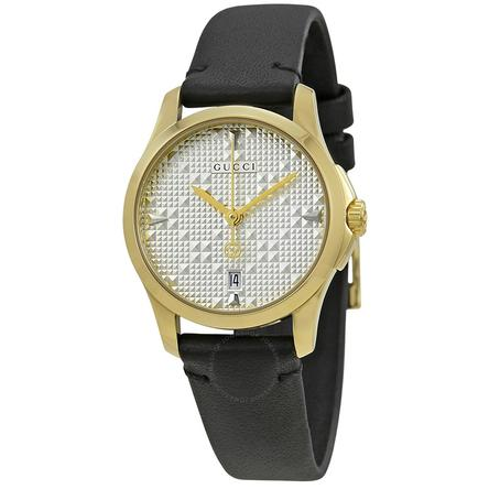 Gucci G-Timeless Silver Dial Ladies Watch YA126571