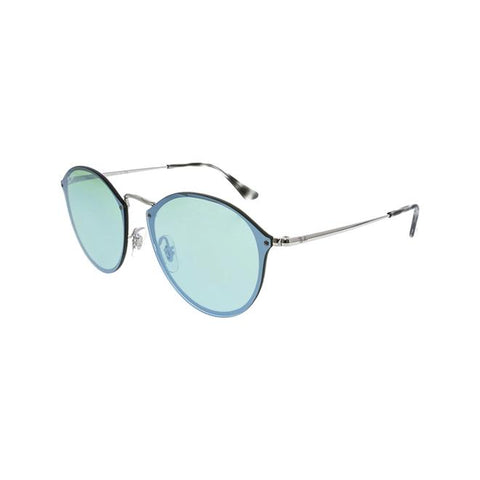 Ray-Ban Women's Polarized Blaze Round RB3574N-003/30-59 Silver Sunglasses