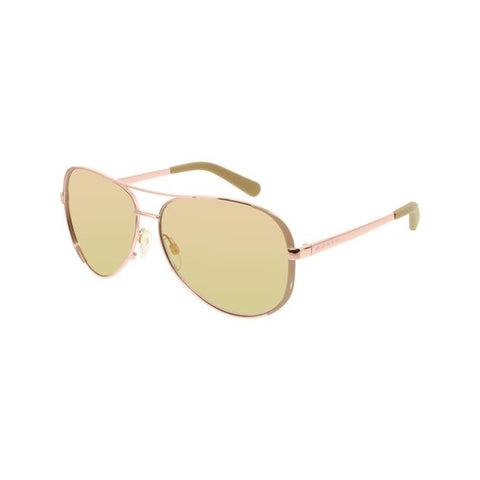 Michael Kors Women's Chelsea MK5004-1017R1-59 Rose Gold Aviator Sunglasses