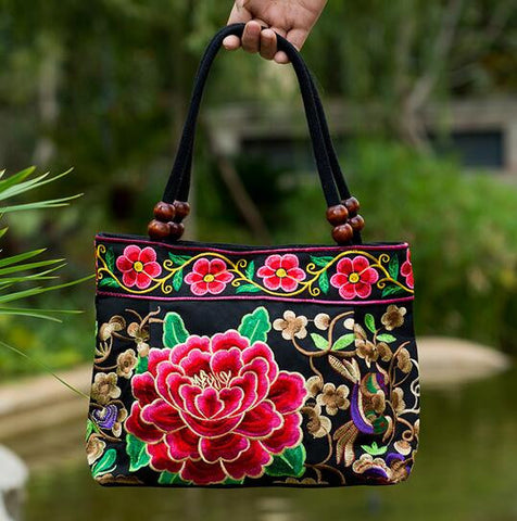 Vintage Embroidery Canvas Handbag