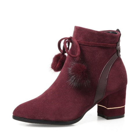Flock Winter High Quality Ankle Boots